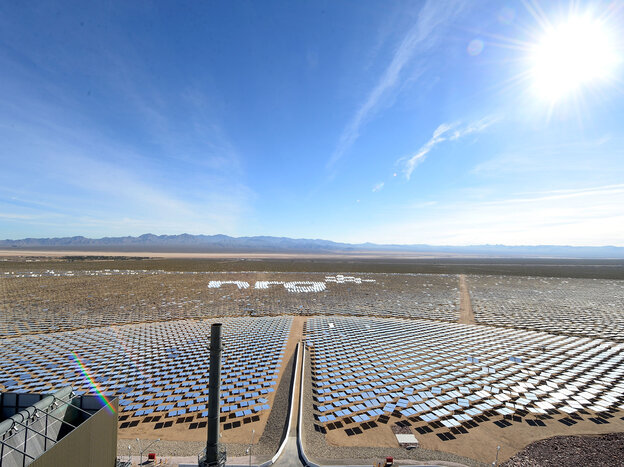 NRG celebrates the future of solar energy at the grand opening of the Ivanpah Solar Electric Generating System on Thursday in Nipton, Calif.