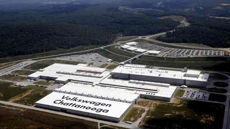 Volkswagen's car plant in Chattanooga, Tenn., is the company's only one in the U.S. Its employees voted this week on whether to join the United Auto Worke