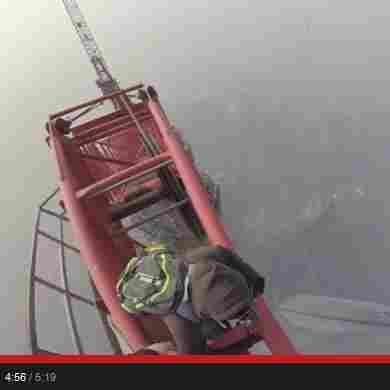 WATCH: A Death-Defying Climb To The Top Of Shanghai Tower