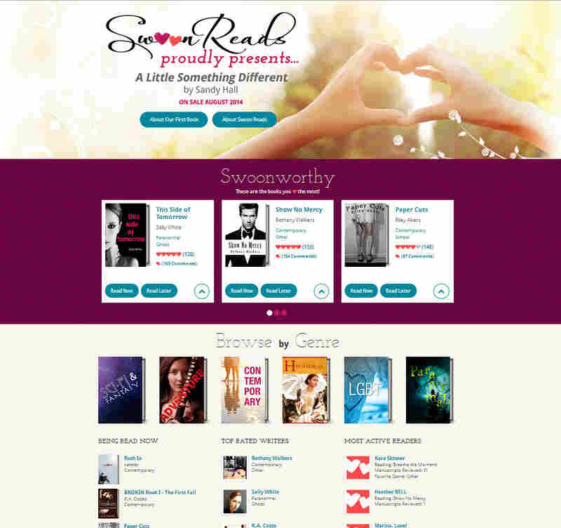 Swoon Reads — Macmillan's new young adult romance imprint — solicits manuscripts and invites users to read and rate them. The most popular manuscript gets a first printing of 100,000 copies.