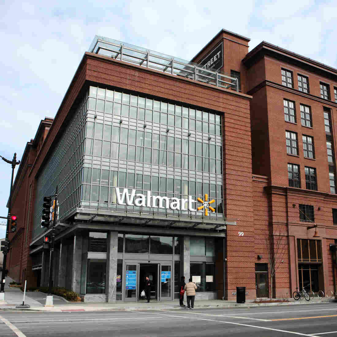 Retailers, including Wal-Mart, are trying to adapt their models to suit urban areas, including this mixed-use retail and residential development in Washington, D.C.