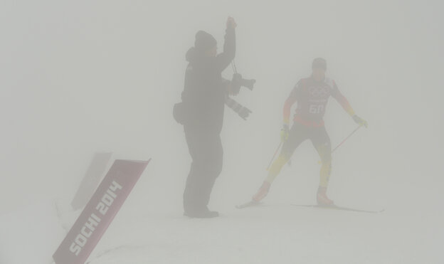 An athlete trains Monday at the Laura Cross-Country Ski a