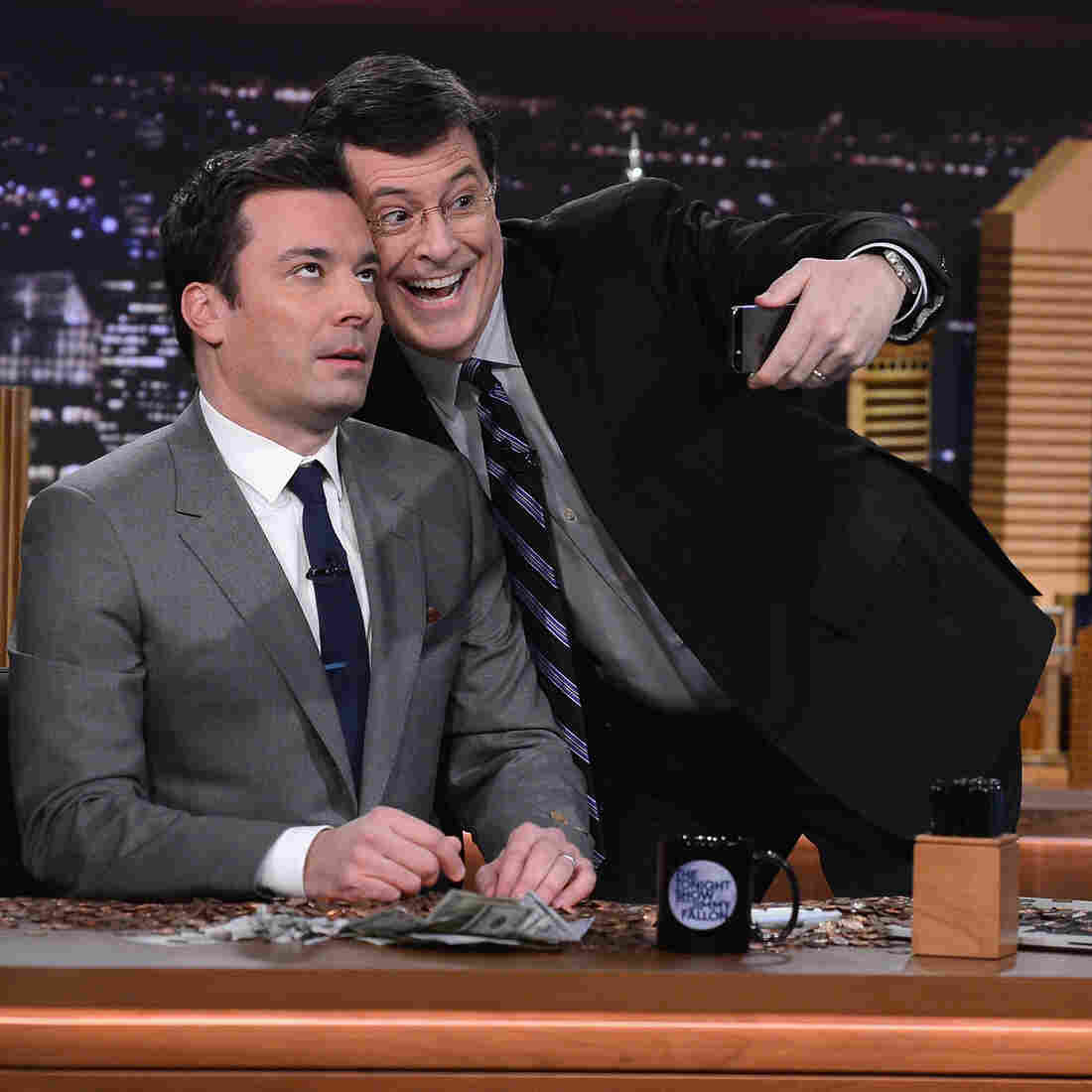 On 'Tonight Show,' Jimmy Fallon Looks To Bridge Two Eras