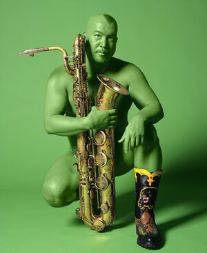 Fred used this photo on the cover of his album Celestial Green Monster, and his book Wicked The