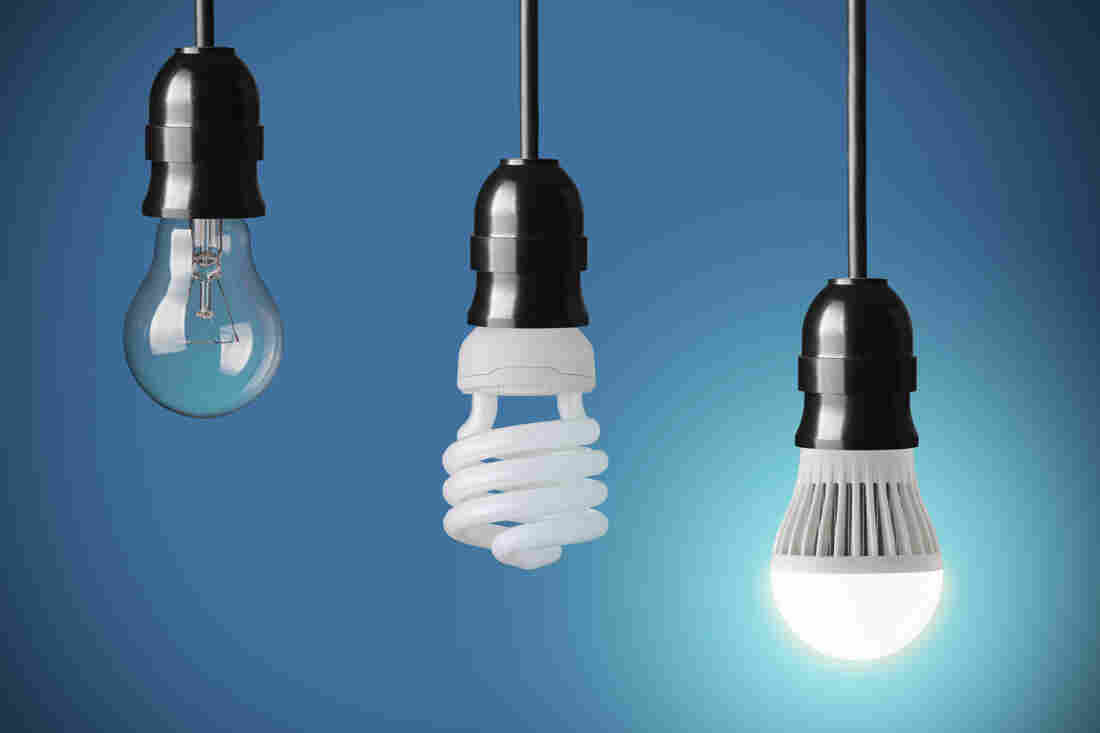 Watts The Deal Demystifying Leds Cfls Halogens And More Npr Wiring A Double Bulb Lamp In Dark About Picking Light This Faq Can Help