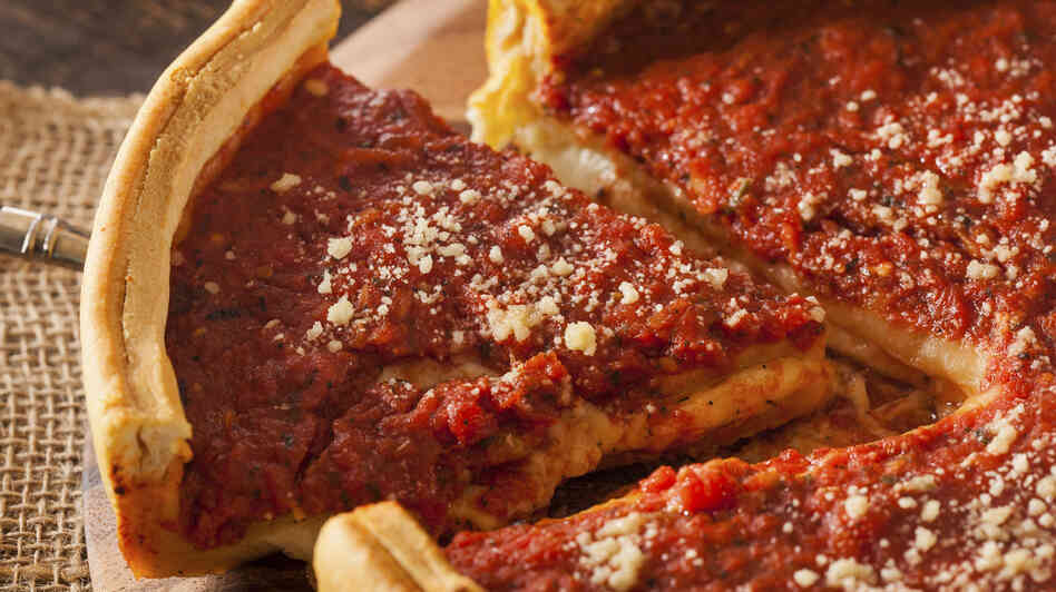 "Comedy Central's Jon Stewart has called Chicago-style pizza ""tomat"