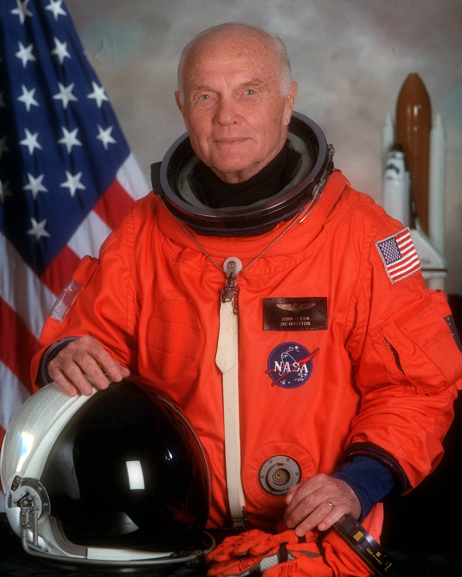 Portrait Of U.S. Sen. John H. Glenn Jr. in 1998, when he served as Payload Specialist For Space Shuttle Sts-95. (NASA/Getty Images)
