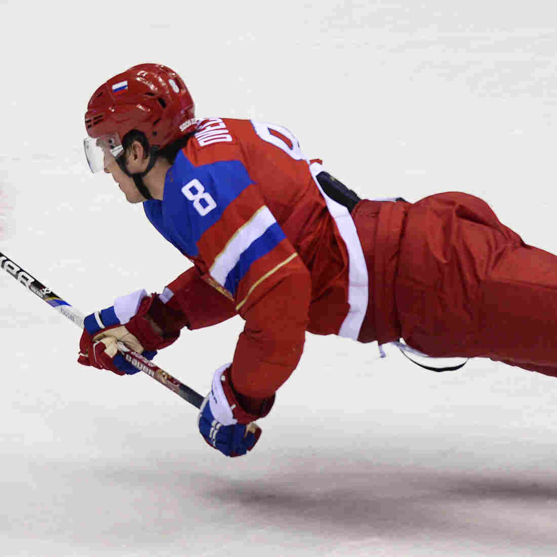 Olympic Photo Of The Day: The Floating Hockey Player