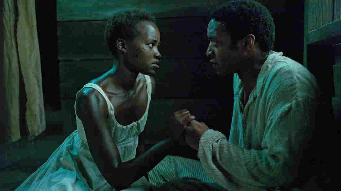 "Lupita Nyong'o and Chiwetel Ejiofor in the Oscar-nominated 12 Years a Slave. Director Steve McQueen and film editor Joe Walker took a restrained, formal approach to portraying the ""casual nightmare"" of American slavery."