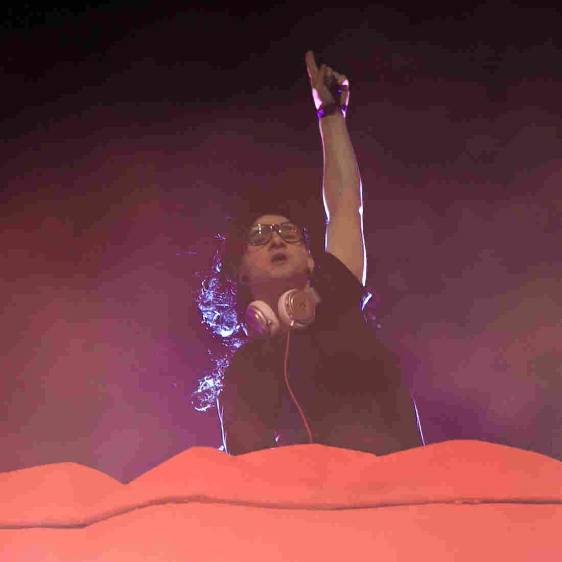 Skrillex on stage at HARD Day Of The Dead on November 2, 2013.