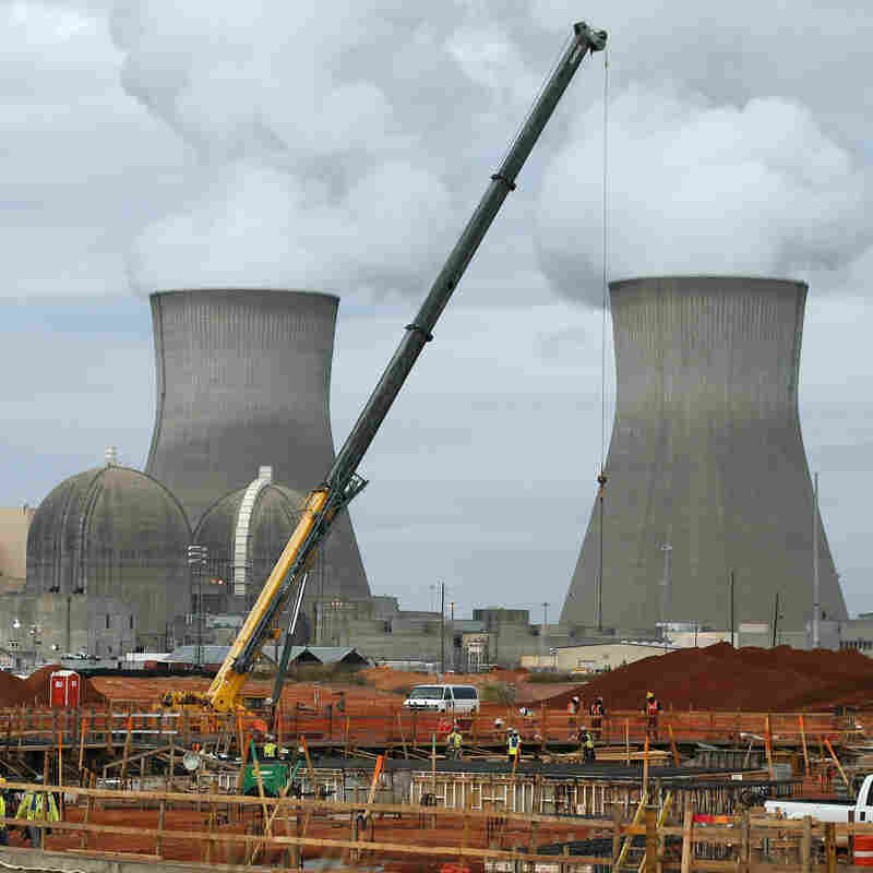 The containment vessel for a new nuclear reactor at the Vogtle nuclear power plant under construction near Augusta, Ga., in December 2012.