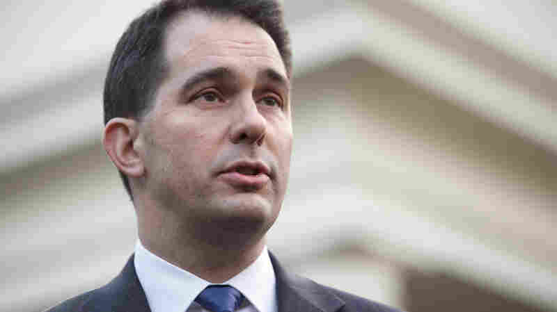 Wisconsin Gov. Scott Walker speaks to the media after meeting with President Obama at the White House last month.