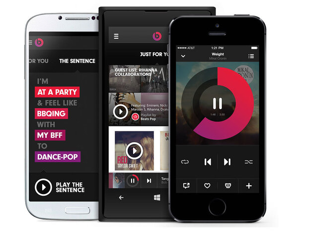 The streaming music service Beats Music was launched on Jan. 21, 2014.
