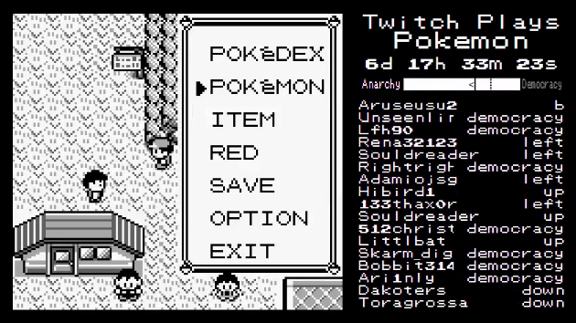A screenshot of the online multiplayer Pokemon game.