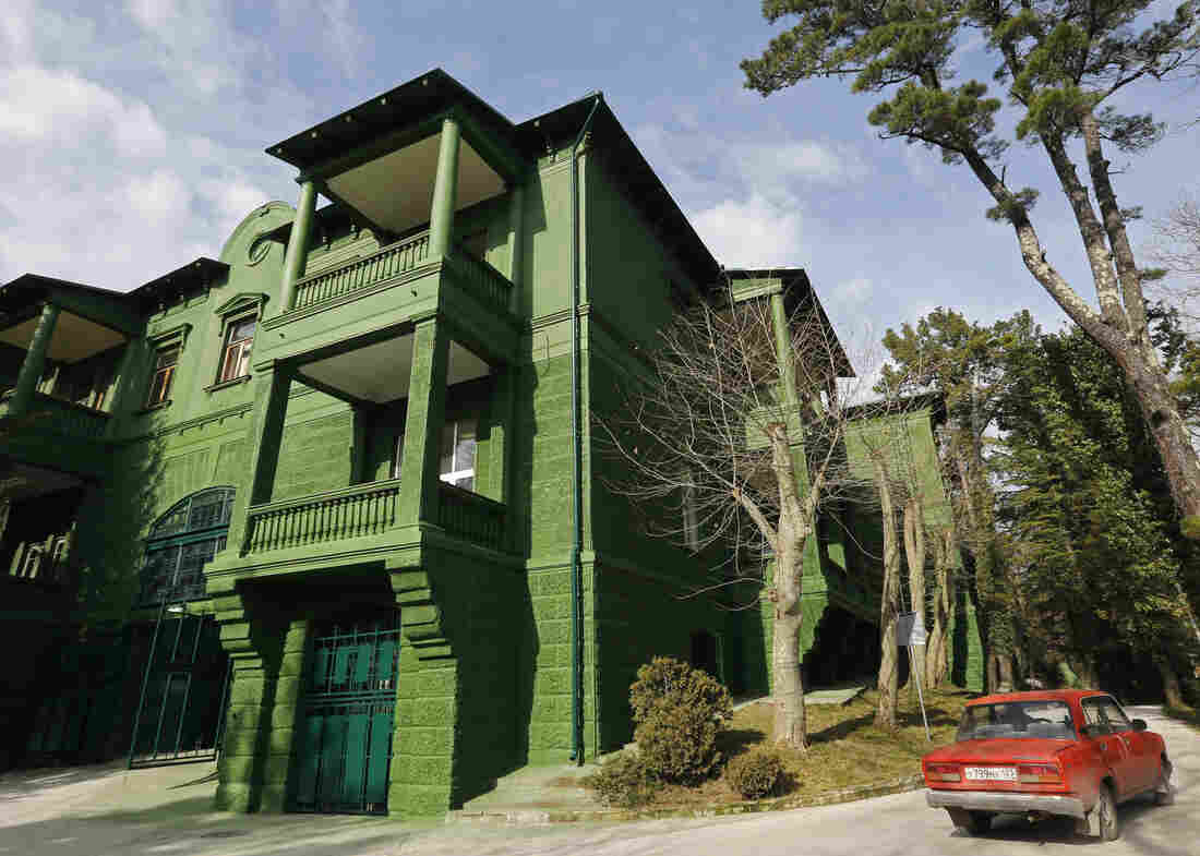 Soviet dictator Josef Stalin's dacha, or summer villa, was built in Sochi, Russia, in 1934. Stalin used the villa — which was painted green to camouflage it from prying eyes — until 1945. The bucolic setting belies the violence of Stalin's rule.