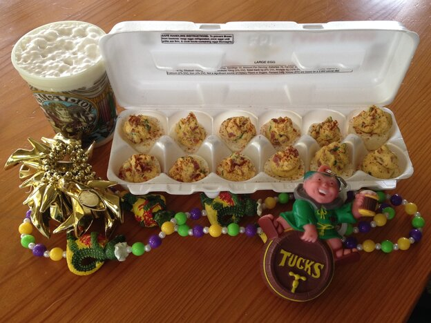 """Poppy Tooker's """"breakfast of champions"""" might not be the way you typically start your day. Then again, there's not much that's typical about Mardi Gras."""