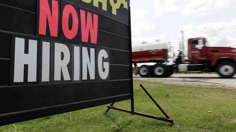 As the weather warms, will more signs such as this pop up? Economists say the latest data on claims for unemployment benefits may signal tha