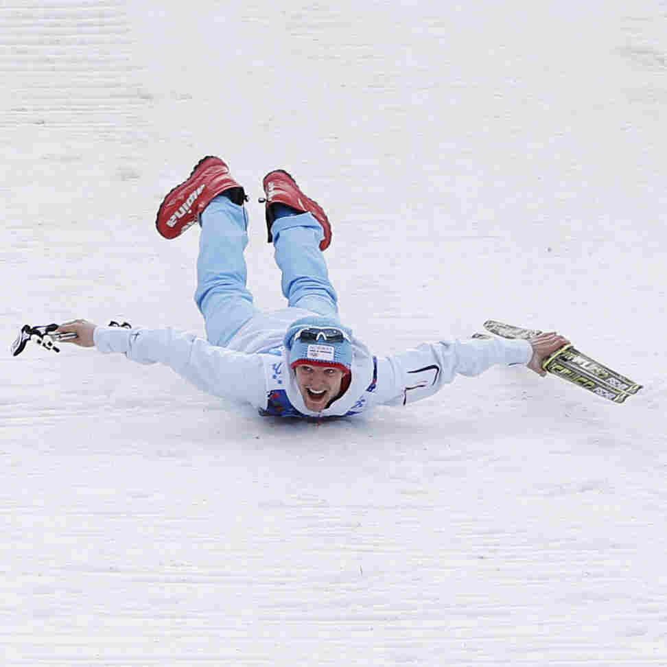 Olympic Photo Of The Day: Celebration Slide
