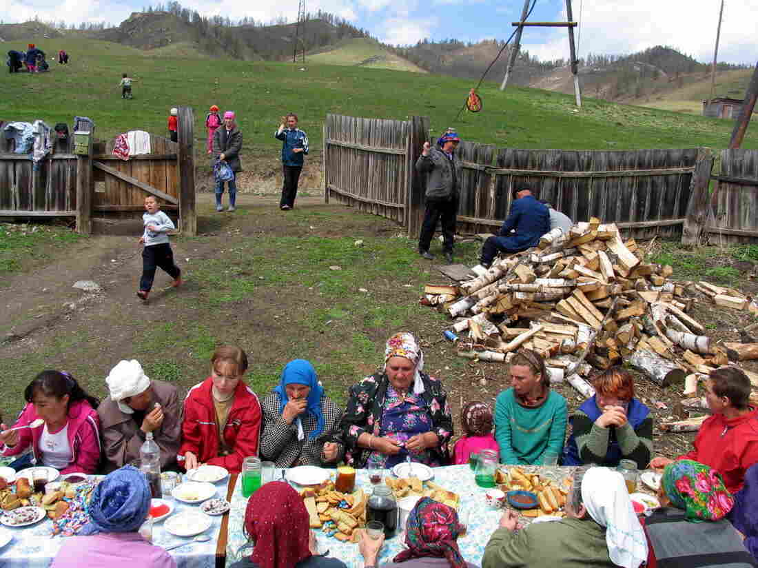 A celebratory dinner for a funeral in Altai, a region that borders Kazakhstan, Mongolia and China.