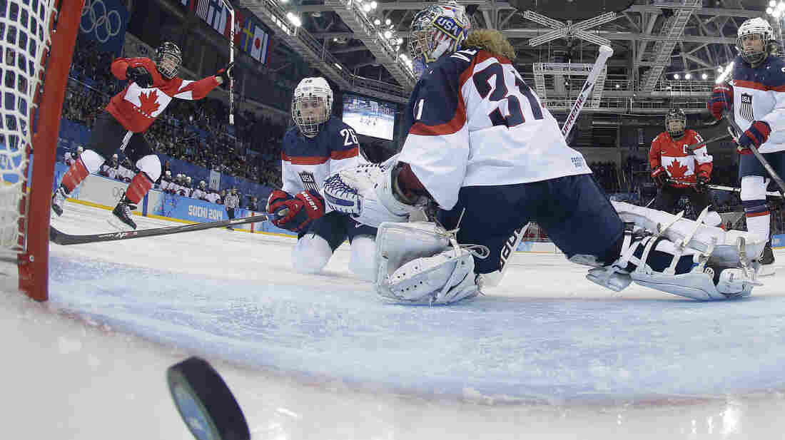 The Canadian women beat the U.S. in an early round match in Sochi on Feb. 12. The two teams face each other again today for the gold medal.