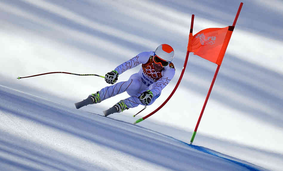 American Bode Miller inspired a question about terminal velocity, resistance, and friction with his skiing in Sochi. It's one of many technical questions that came up during the Winter Olympics.