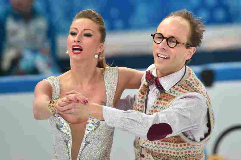 Germany's Nelli Zhiganshina and Germany's Alexander Gazsi perform in the Figure Skating Ice Dance Short Dance at the Iceberg Skating Palace during the Sochi Winter Olympics on February 16, 2014.