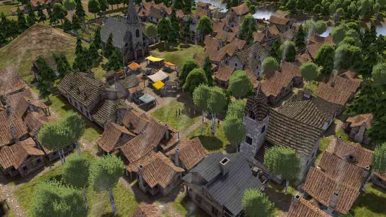 In Banished, you build gentle hamlets of wooden and stone houses. That's a contrast to the bustling urban centers of many city-building sim games, but the pace is no less hectic.
