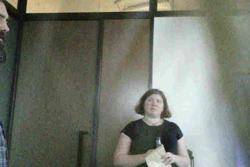 NPR Graphics Editor Alyson Hurt, at a meeting.