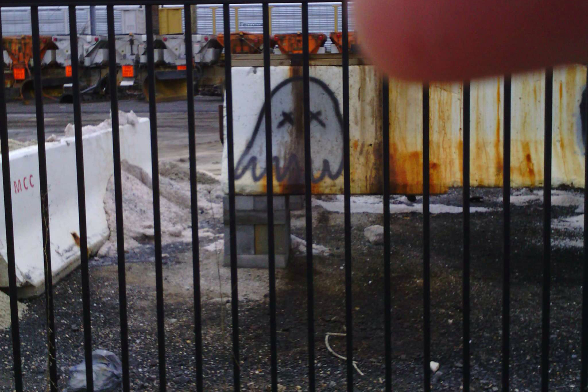 While wearing the Narrative Clip outside, O'Neill captured some graffiti on a walk.