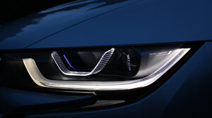 The i8, which has the optional laser headlights, will be on sale in Europe this summer. BMW is working with the U.S. Department of Transportation to get it approved for a U.S. release.