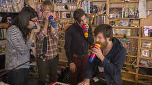 Brass Bed performs a Tiny Desk Concert in January 2014.