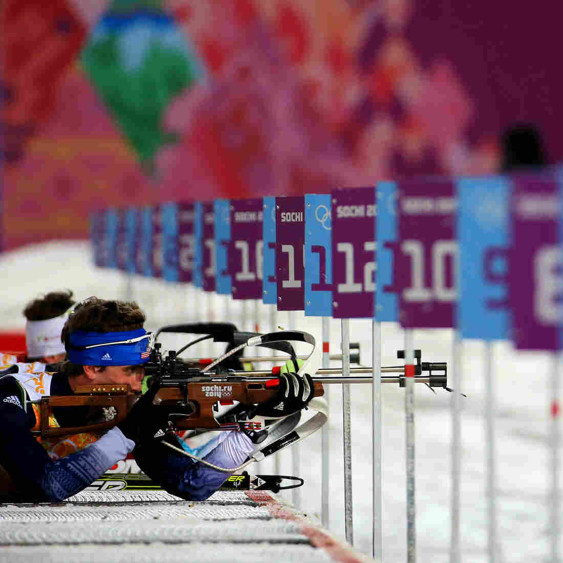 Sean Doherty of the United States competes during the Men's 4 x 7.5 km Relay on Saturday at the Sochi 2014 Winter Olympics at Laura Cross-country Ski & Biathlon Center in Sochi, Russia.