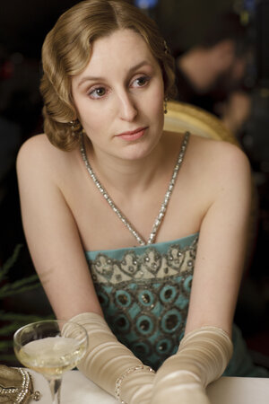 Laura Carmichael as Lady Edith, whose rather appalling luck seems destined to follow her.