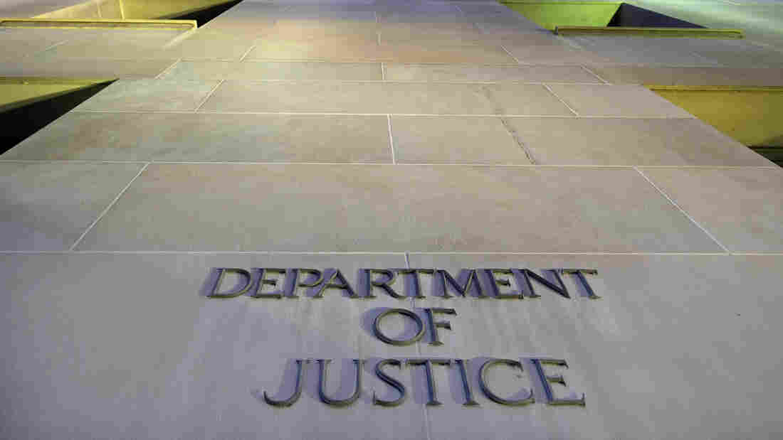 The Department of Justice headquarters building in Washington