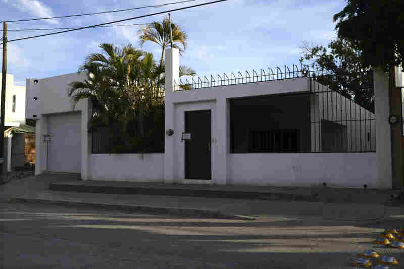 Prior to his capture, Guzman's various residences were raided. He escaped from this house through a series of gutters used as tunnels that connect with other houses and drainage areas in Culiacan, Sinaloa. The raid also found fake plastic cucumbers and plantains stuffed with drugs.