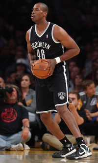Jason Collins of the Brooklyn Nets during Sunday's game against the Lakers in Los Angeles.