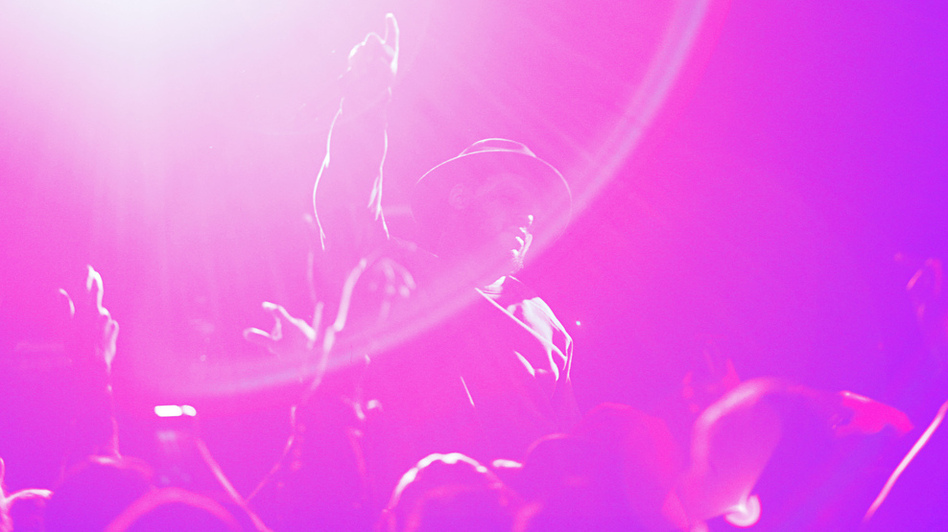 ScHoolboy Q onstage at Le Poisson Rouge in New York City on Sunday, February 23rd. (Polina Yamshchikov for NPR)
