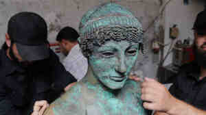Last year, a Palestinian man fishing off the coast of the Gaza Strip discovered what is thought to be a 2,500-year-old bronze statue of the Greek god Apollo. The rar