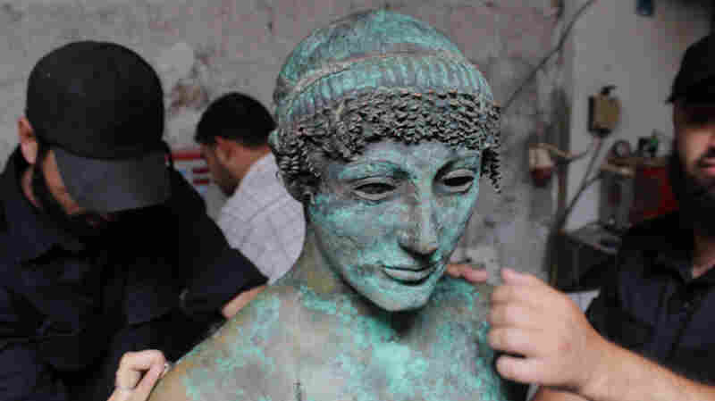 Last year, a Palestinian man fishing off the coast of the Gaza Strip discovered what is thought to be a 2,500-year-old bronze statue of the Greek god Apollo. The rare statue vanished from public view almost immediately after being pulled from the sea. The Hamas government in Gaza says it now has control of the statue.