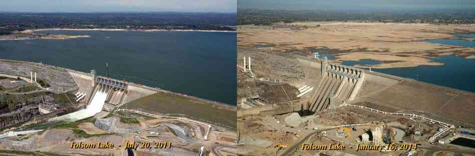 Images of Folsom Lake, a reservoir in