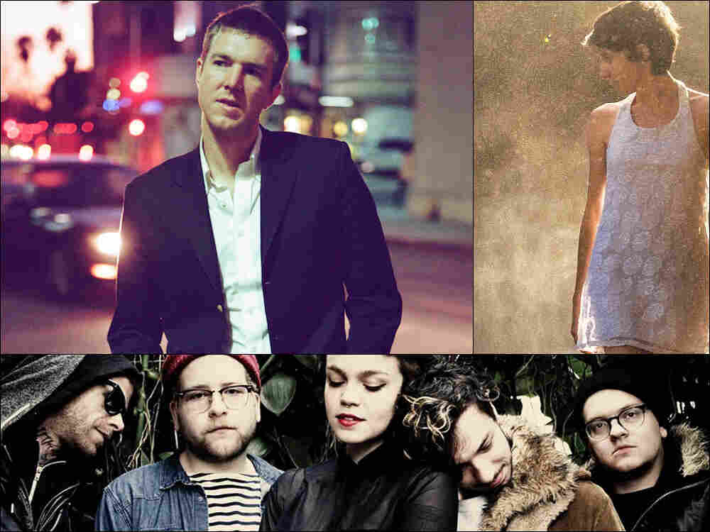 Clockwise from upper left: Hamilton Leithauser, Hundred Waters, Perfect Pussy