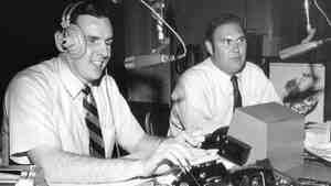 "From 1952 to 1974, the ""Joy Boys"" — Walker (left) and Willard Scott — provided D.C. radio listeners with a daily dose of comedy. Scott went on to work in TV, where he can still be seen on The Today Show; Walker stuck with radio."