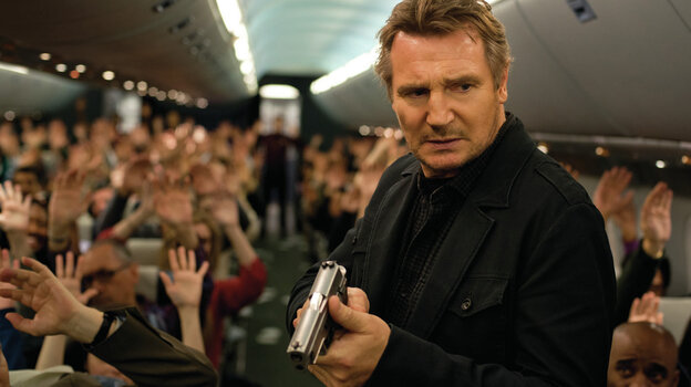Liam Neeson is a federal air marshal on an imperiled flight in Non-Stop, the latest film to feature the actor as a troubled action hero.