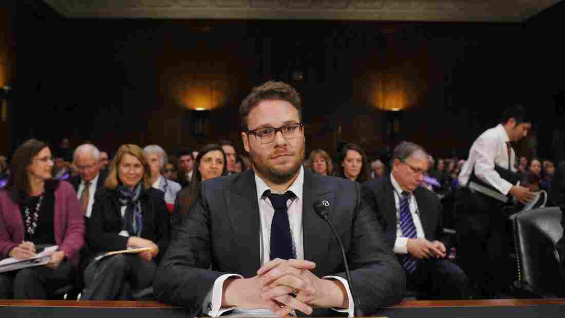Actor and Alzheimer's advocate Seth Rogen prepares to testify before a Senate hearing on the rising cost of Alzheimer's disease in America.