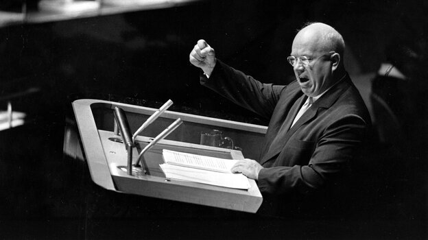 Soviet leader Nikita Khrushchev was Russian but felt an affinity with Ukraine. His decision to give Crimea to Ukraine is having consequences today.
