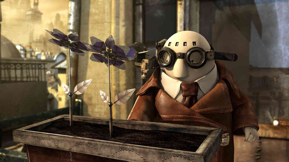 One of this season's Oscar-nominated shorts is Mr. Hublot, a French-language animated film about a reclusive man who must learn to adapt to a new housemate — a robot dog.