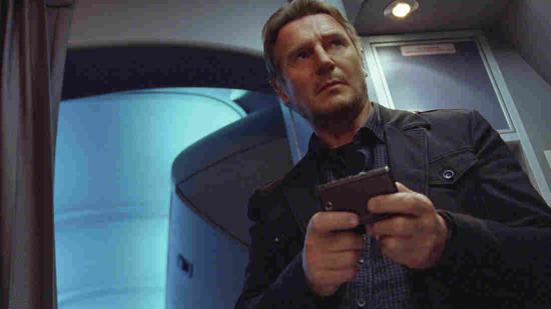 Don't mess with Liam Neeson! He will get you with his phone! Or whatever else is handy! He will beat you up, is what we're saying.