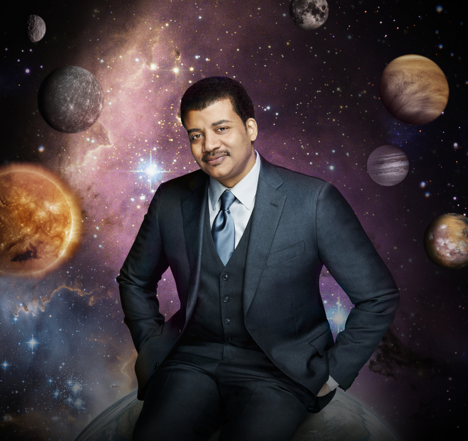Astrophysicist Neil deGrasse Tyson hosts a new TV series called <em>Cosmos: A Space-Time Odyssey.</em> It's an update of the influential 1980 PBS series <em>Cosmos: A Personal Journey, </em>hosted by Carl Sagan. (Patrick Eccelsine/Fox)