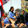 Egyptian singer-songwriter Ramy Essam, in the heady early days at Tahrir Square in 2011.
