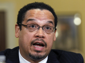 Rep. Keith Ellison, D-Minn., testifies before the House Homeland Security Committee on the extent of the radicalization of American Muslims, on Capitol Hill in Washington, Thursday, March 10, 2011.